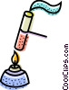 Bunsen burners Vector Clipart illustration