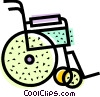 Vector Clipart illustration  of a Wheelchairs