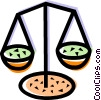 Vector Clip Art picture  of a Scales