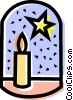 Christmas candle Vector Clip Art picture