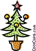 Christmas Trees Vector Clip Art image