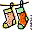 Stockings Vector Clipart illustration