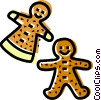 Vector Clip Art graphic  of a gingerbread cookies