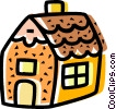Gingerbread House Vector Clipart image
