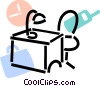Work desks Vector Clipart graphic