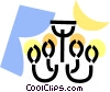 Vector Clip Art picture  of a Chandeliers