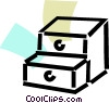 Vector Clipart graphic  of a Drawers and Cabinets