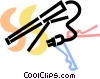 Vector Clip Art graphic  of a Curling Irons
