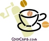 Vector Clip Art graphic  of a coffee grinder with coffee beans