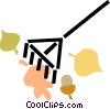 Vector Clip Art image  of a rack and leaves