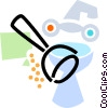 bathroom sink with toilet plunger Vector Clipart illustration