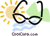 Vector Clip Art graphic  of a sunglasses with a bathing
