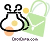 Vector Clip Art graphic  of a purse with a change purse and