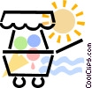 ice cream cart Vector Clip Art image