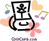 Vector Clip Art image  of a jewelry box