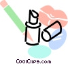 lipstick, lip liner and lips Vector Clip Art graphic