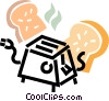 toaster and bread Vector Clip Art picture