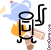 Wood Stoves Vector Clip Art graphic