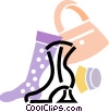 Vector Clip Art picture  of a Ladies Boots