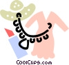 Vector Clip Art picture  of a Necklace