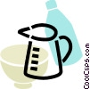 Vector Clipart graphic  of a Measuring Cups