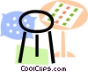 Bar Stools and Benches Vector Clip Art picture
