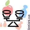 Vector Clip Art graphic  of a Kitchen Scales