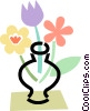 Vector Clip Art graphic  of a Flowers in a Vase
