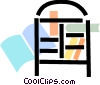 Bookshelves Vector Clip Art picture