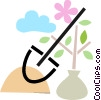 Vector Clipart illustration  of a Shovels