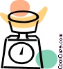 Kitchen Scales Vector Clipart illustration