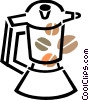 Vector Clipart graphic  of a Coffee Pots and Coffee Makers