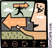 Vector Clipart graphic  of a person giving directions