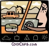 Roadways Vector Clipart picture