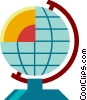 Vector Clip Art graphic  of a Globes