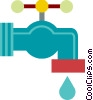 Faucet dripping Vector Clipart graphic