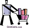 Vector Clipart picture  of a Shopping Carts
