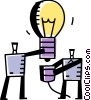 Vector Clip Art image  of a Idea Light bulbs