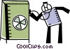 Vector Clip Art image  of a Vaults and Safes