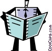 Vector Clip Art graphic  of a Periodicals Newspapers