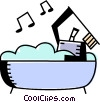 Bathing Vector Clip Art graphic