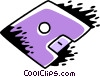 Vector Clipart illustration  of a Computer Diskette