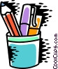 Vector Clip Art picture  of a Pencil Holder