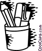 Pencil Holder Vector Clip Art graphic