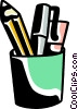 Pencil Holder Vector Clipart picture
