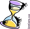 Vector Clip Art picture  of a Hourglass