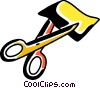 Vector Clip Art graphic  of a Scissors