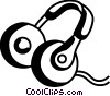 Vector Clip Art graphic  of a Headphones
