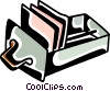 Vector Clip Art picture  of a Filing cabinet drawer