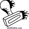 Vector Clipart image  of a Rubber Stamp